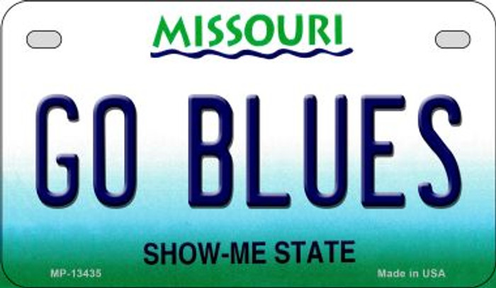 Go Blues Novelty Metal Motorcycle Plate MP-13435
