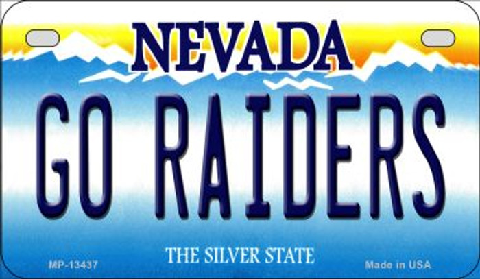 Go Raiders Novelty Metal Motorcycle Plate MP-13437
