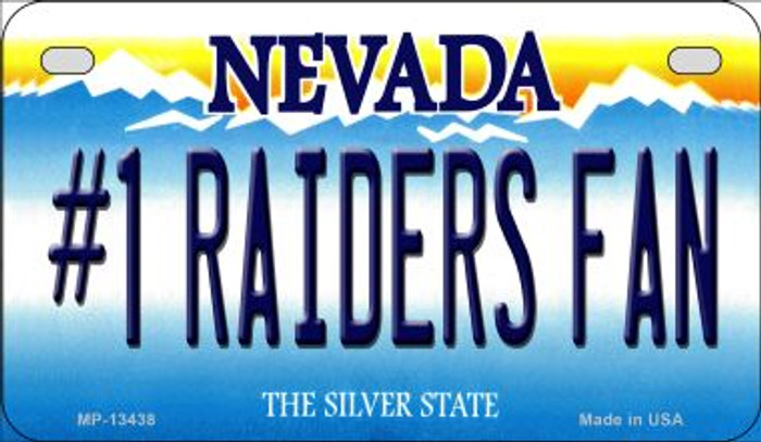 Number 1 Raiders Fan Novelty Metal Motorcycle Plate MP-13438