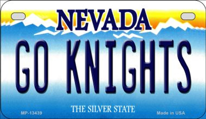 Go Golden Knights Novelty Metal Motorcycle Plate MP-13439