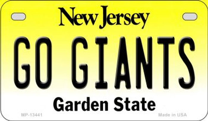 Go Giants Novelty Metal Motorcycle Plate MP-13441