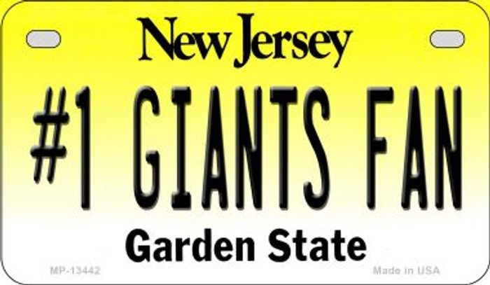 Number 1 Giants Fan Novelty Metal Motorcycle Plate MP-13442