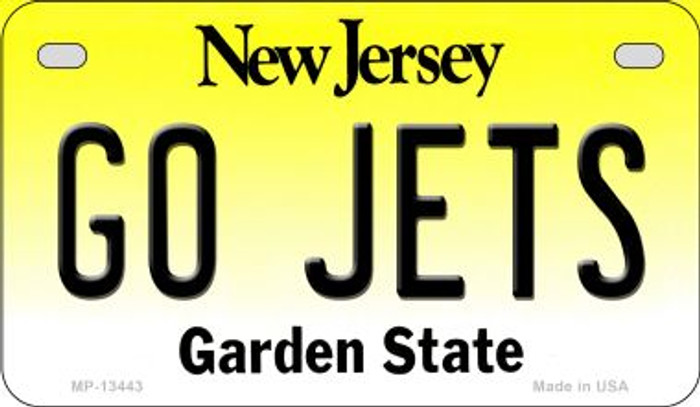 Go Jets Novelty Metal Motorcycle Plate MP-13443