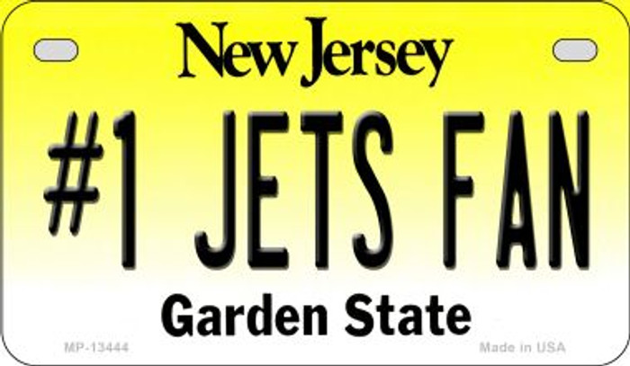 Number 1 Jets Fan Novelty Metal Motorcycle Plate MP-13444