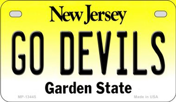Go Devils Novelty Metal Motorcycle Plate MP-13445
