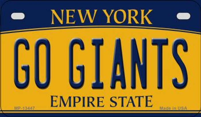Go Giants Novelty Metal Motorcycle Plate MP-13447