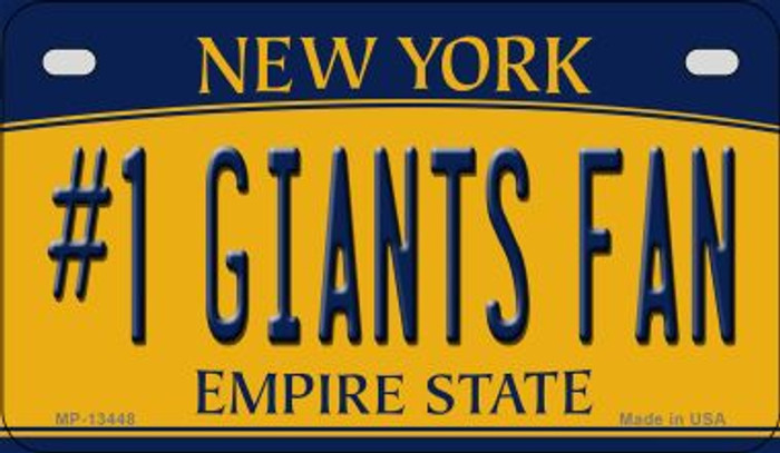 Number 1 Giants Fan Novelty Metal Motorcycle Plate MP-13448