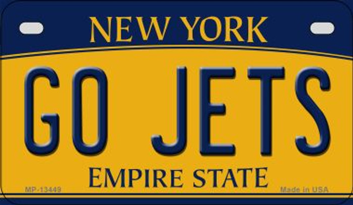 Go Jets Novelty Metal Motorcycle Plate MP-13449