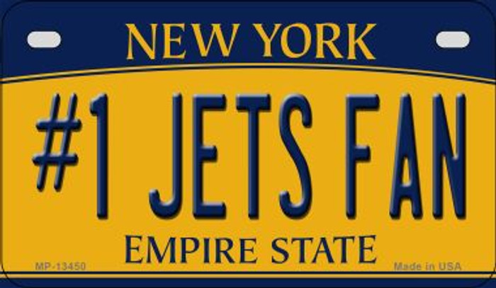 Numbers 1 Jets Fan Novelty Metal Motorcycle Plate MP-13450