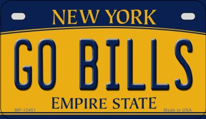 Go Bills Novelty Metal Motorcycle Plate MP-13451