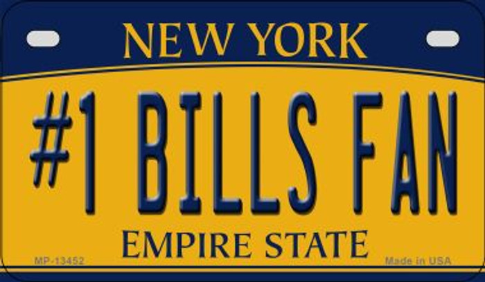 Number 1 Bills Fan Novelty Metal Motorcycle Plate MP-13452