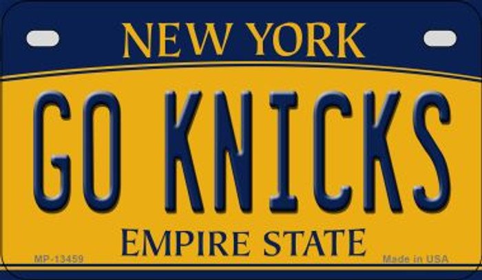 Go Knicks Novelty Metal Motorcycle Plate MP-13459