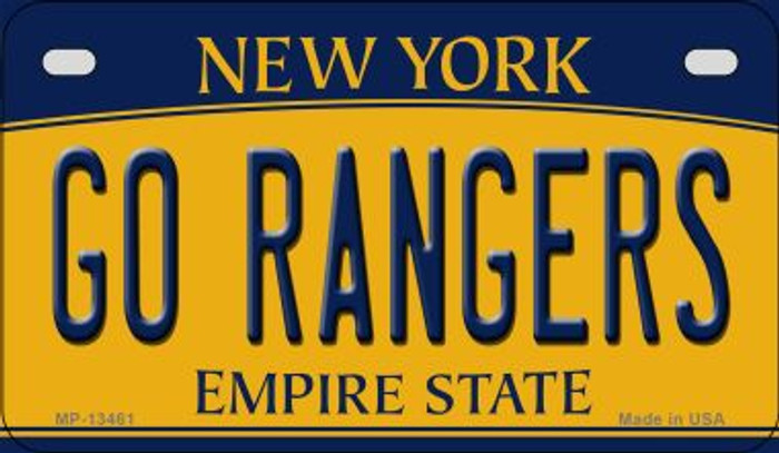 Go Rangers Novelty Metal Motorcycle Plate MP-13461