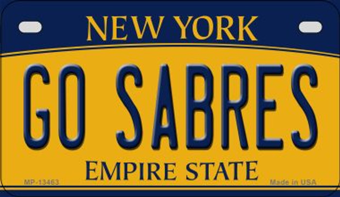 Go Sabres Novelty Metal Motorcycle Plate MP-13463