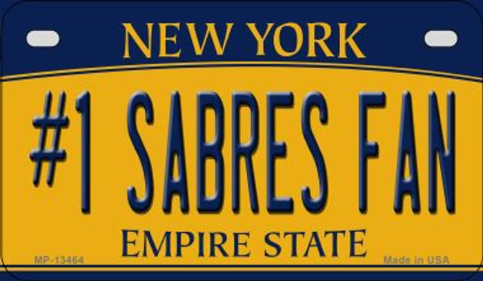 Number 1 Sabres Fan Novelty Metal Motorcycle Plate MP-13464
