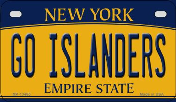Go Islanders Novelty Metal Motorcycle Plate MP-13465