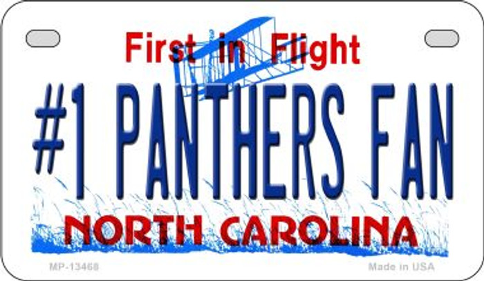 Number 1 Panthers Fan Novelty Metal Motorcycle Plate MP-13468