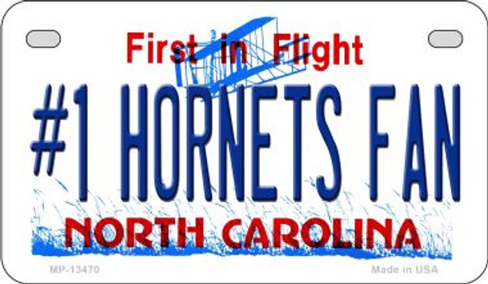 Number 1 Hornets Fan Novelty Metal Motorcycle Plate MP-13470