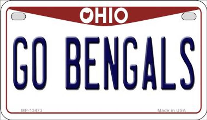 Go Bengals Novelty Metal Motorcycle Plate MP-13473