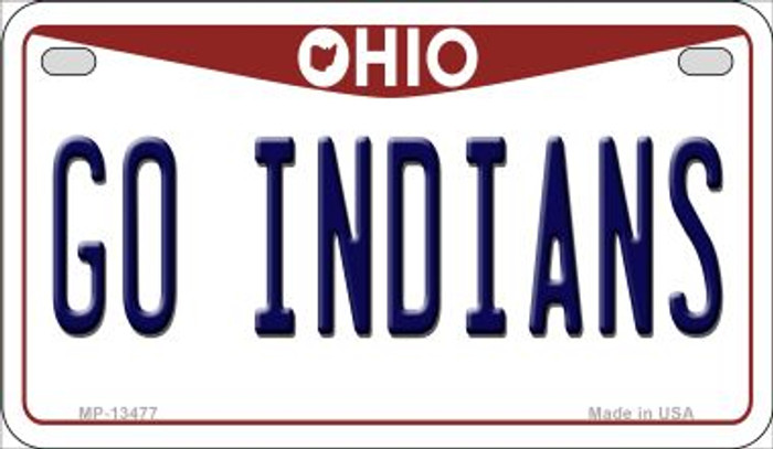 Go Indians Novelty Metal Motorcycle Plate MP-13477