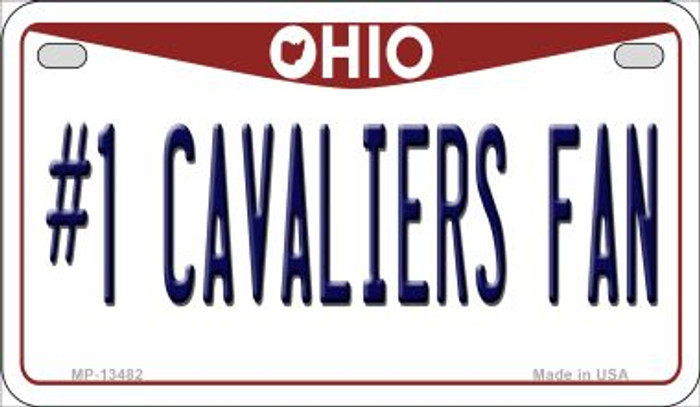 Number 1 Cavaliers Fan Novelty Metal Motorcycle Plate MP-13482