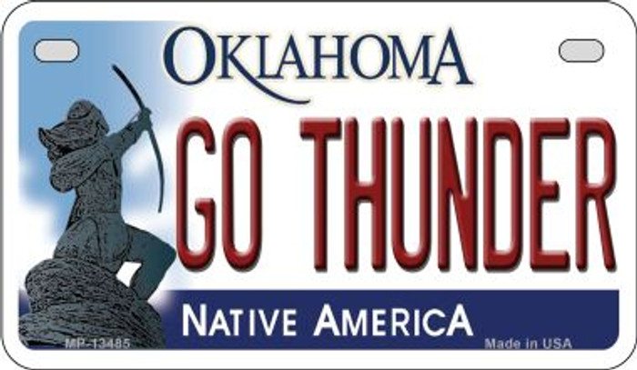 Go Thunder Novelty Metal Motorcycle Plate MP-13485