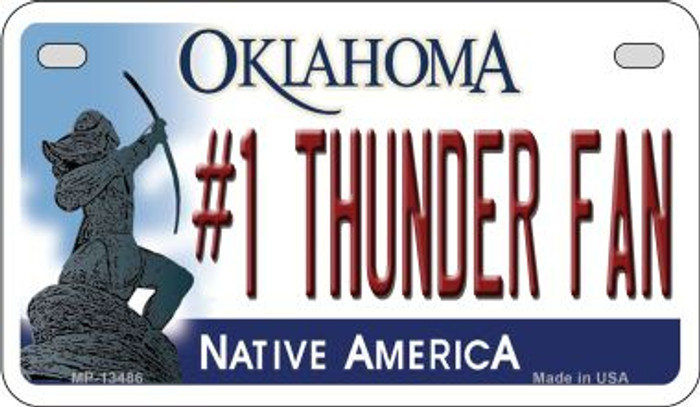 Number 1 Thunder Fan Novelty Metal Motorcycle Plate MP-13486