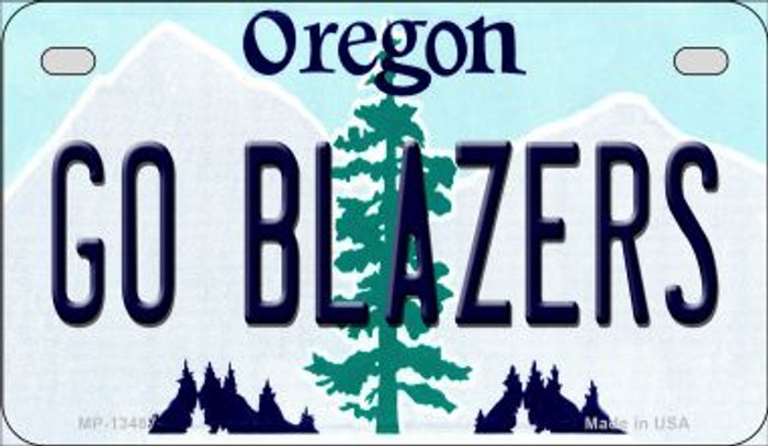 Go Blazers Novelty Metal Motorcycle Plate MP-13487
