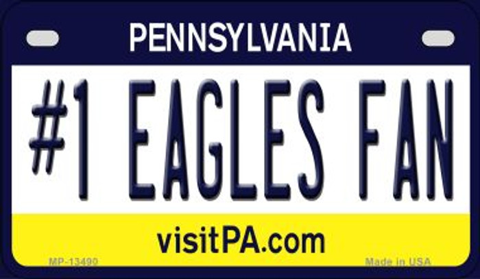 Number 1 Eagles Fan Novelty Metal Motorcycle Plate MP-13490