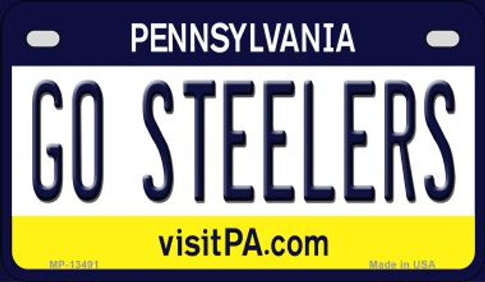 Go Steelers Novelty Metal Motorcycle Plate MP-13491