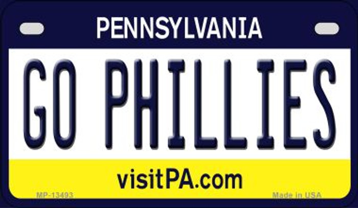 Go Phillies Novelty Metal Motorcycle Plate MP-13493