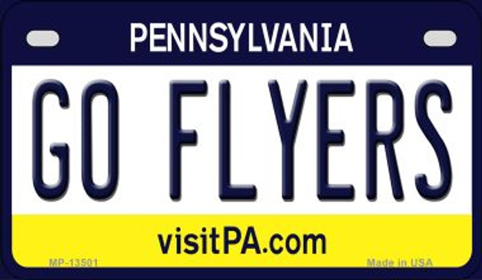 Go Flyers Novelty Metal Motorcycle Plate MP-13501