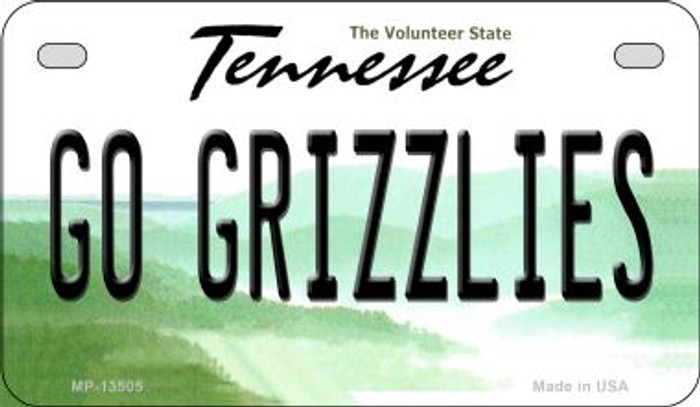 Go Grizzlies Novelty Metal Motorcycle Plate MP-13505
