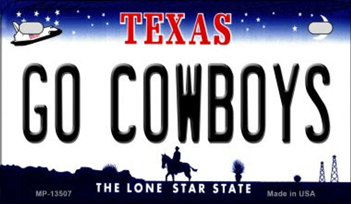 Go Cowboys Novelty Metal Motorcycle Plate MP-13507