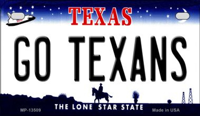 Go Texans Novelty Metal Motorcycle Plate MP-13509