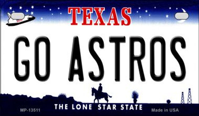 Go Astros Novelty Metal Motorcycle Plate MP-13511