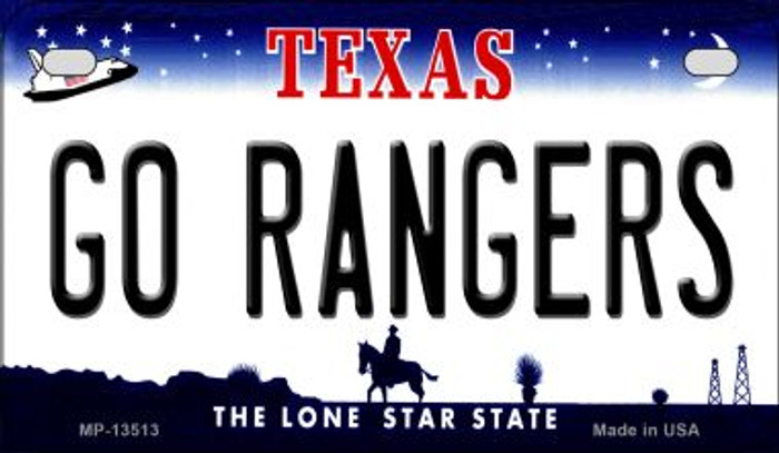 Go Rangers Novelty Metal Motorcycle Plate MP-13513