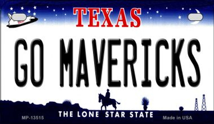 Go Mavericks Novelty Metal Motorcycle Plate MP-13515