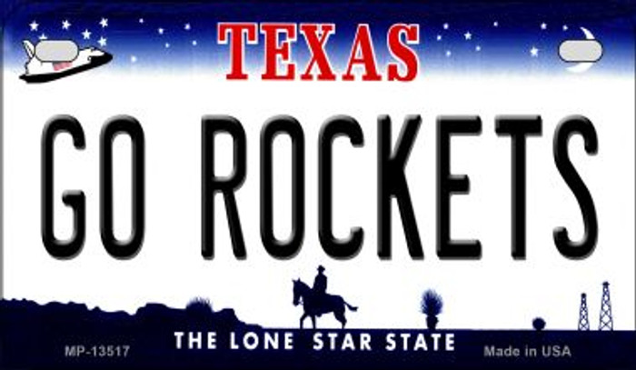 Go Rockets Novelty Metal Motorcycle Plate MP-13517