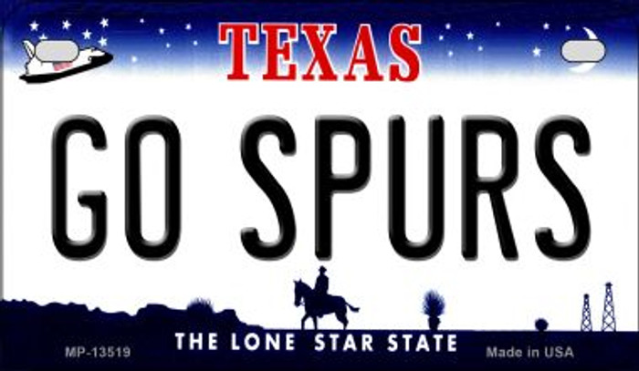 Go Spurs Novelty Metal Motorcycle Plate MP-13519