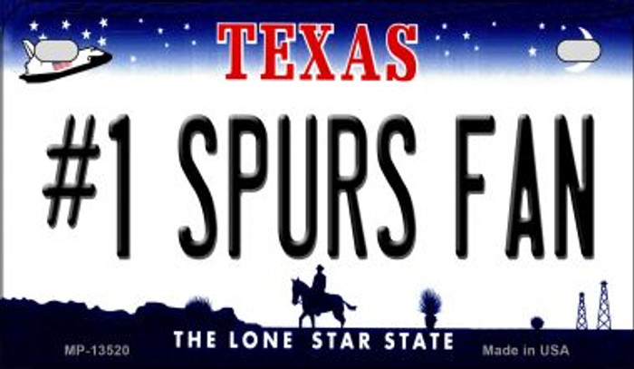 Number 1 Spurs Fan Novelty Metal Motorcycle Plate MP-13520