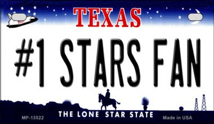 Number 1 Stars Fan Novelty Metal Motorcycle Plate MP-13522