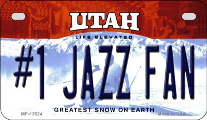 Number 1 Jazz Fan Novelty Metal Motorcycle Plate MP-13524