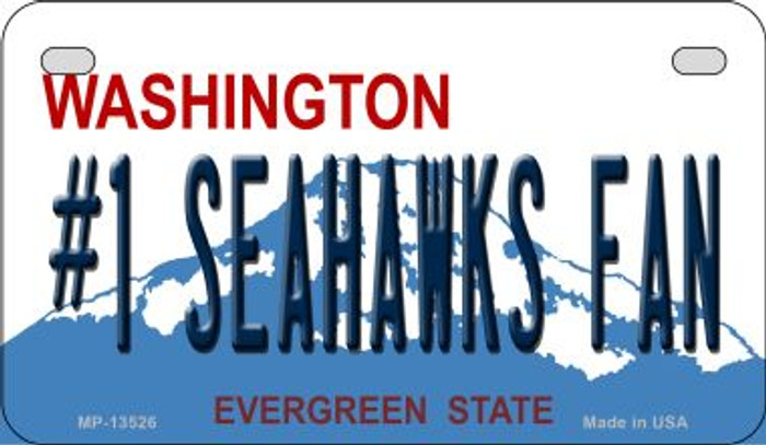 Number 1 Seahawks Fan Novelty Metal Motorcycle Plate MP-13526