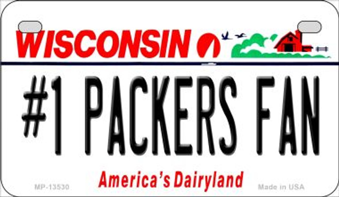 Number 1 Packers Fan Novelty Metal Motorcycle Plate MP-13530