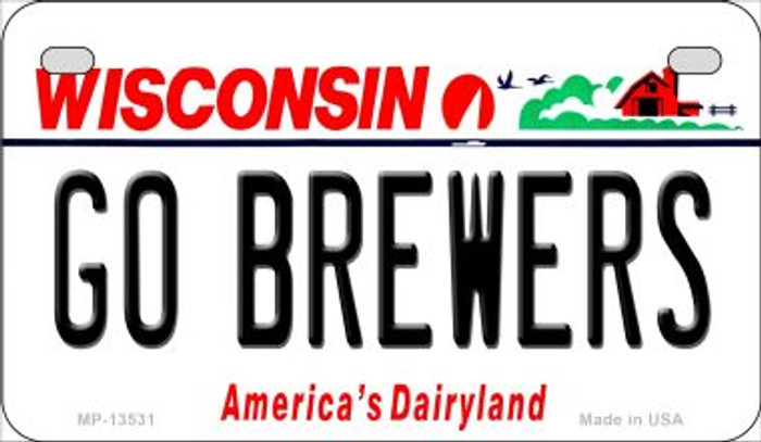 Go Brewers Novelty Metal Motorcycle Plate MP-13531