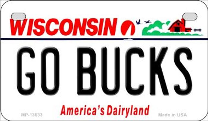 Go Bucks Novelty Metal Motorcycle Plate MP-13533