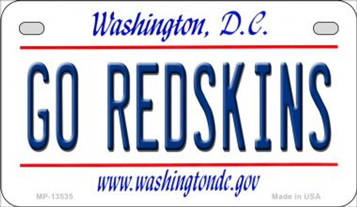 Go Redskins Novelty Metal Motorcycle Plate MP-13535