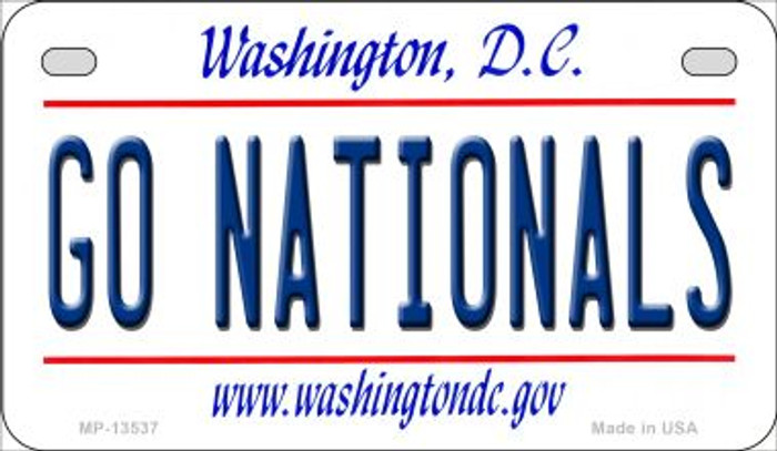 Go Nationals Novelty Metal Motorcycle Plate MP-13537