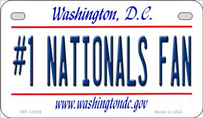 Number 1 Nationals Fan Novelty Metal Motorcycle Plate MP-13538